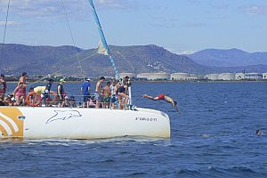 Relaxing catamaran tour from Valencia with swim stop