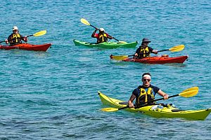 Kayak fahren an der Costa Dorada