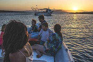 Kissamos Bootsfahrt Sonnenuntergang