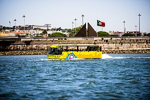 On land and water: amazing Lisbon city tour by amphibious bus