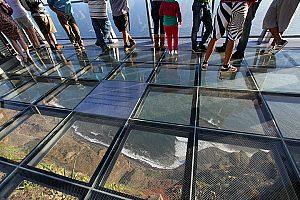 Island safari in an electric car: Tour to Madeira Skywalk and Câmara de Lobos