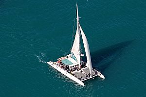 Have fun swimming and relaxing at the catamaran tour from Malaga