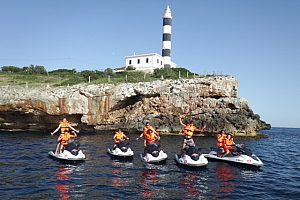 Majorca guided jetski safari without a license in Porto Colom (east)