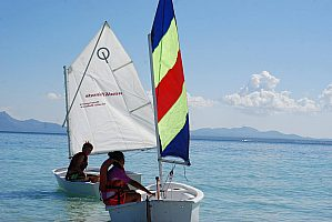 In the north of Majorca: dinghy hire / Laser 2000 rental in Alcudia