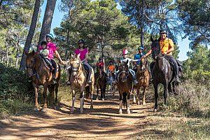 Ausritt mit Reitunterricht auf Menorca