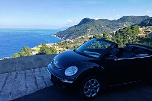 Tramuntana Rundfahrt auf Mallorca im stylischen VW Beetle Cabrio