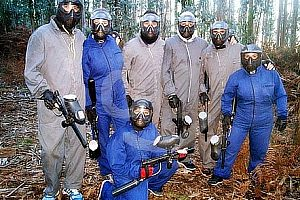 Paintball in nature in Galicia: Action on the field