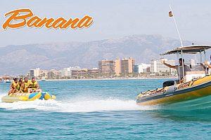 Bananaboot fahren auf Mallorca in Arenal