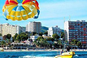 Bananenboot auf Mallorca