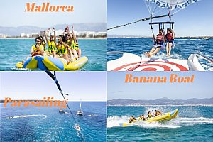 Go parasailing in Mallorca and then hop on a banana boat - Wonderful water-sports on the Playa de Palma