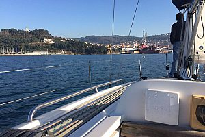 Charter a sailboat in Vigo and sail to the beautiful Cies islands