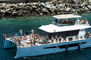 Half-day Catamaran Tour with Afrikat from Puerto Rico in Southern Gran Canaria