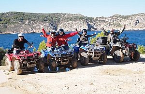 Quad Tour Majorca with high rope action park (Jungle Park), starting from Andratx