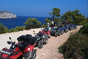 "Quad Tour Majorca ""Quad and trial scuba diving"", starting from Andratx"