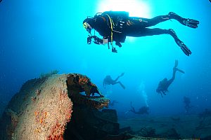 Two dives from boat in Gran Canaria for advanced divers