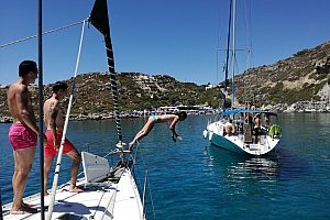 Full day sailing trip in Rhodes to the beautiful bays of the north-east coast