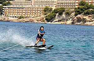 Waterskiing in Santa Ponca in Southwestern Majorca
