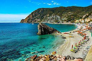 Schöner Strand in Monterosso