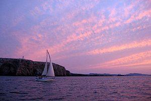Segeln Sonnenuntergang Menorca