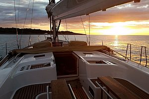 Sailing trip to the sunset in Porto Cristo