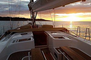Segeltörn zum Sonnenuntergang in Portocristo