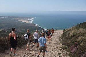 Hiking tour in Sintra Forest with views of the Atlantic Ocean in Portugal