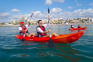Great kayak tour from Sitges - fun alongside the Costa Dorada for the whole family