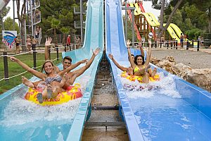 Tour to Aqualand Mallorca, the waterpark in El Arenal (south), incl. entry