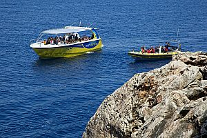 "Cabrera boat trip by speedboat from Mallorca to the blue grotto ""Cueva Azul"""