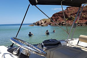 Exciting speedboat tour along the cliffs in the northeast of Menorca