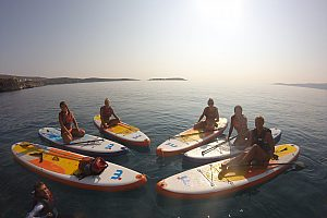 2 in 1 water fun tour in Crete: SUP and snorkelling in Loutraki Bay