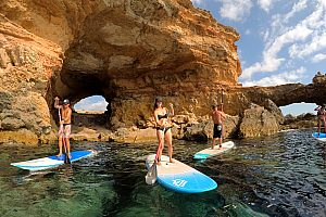 Ibiza SUP Tour by boat: Stand-up paddling and snorkelling from San Antonio