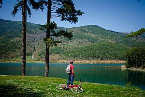 Day trip from Athens to Peloponnese with bicycle tour at Lake Doxa