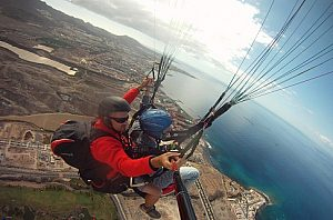 Tandem Paragliding in Tenerife Taucho in the south of the island
