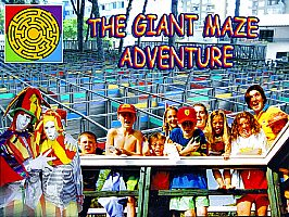"Theme park: ""The Giant Maze Adventure"" in Alcudia, North of Majorca"