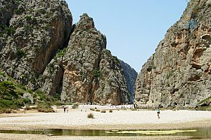 The famous Torrent de Pareis hiking tour in Majorca