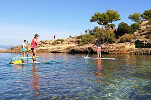 Mallorca SUP Tour to the caves of Cala Blava - Stand Up Paddling from Can Pastilla