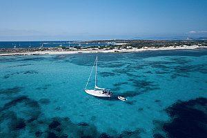 Bucht von Ses Illetes auf Formentera