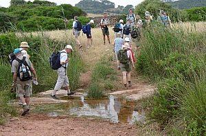 mit Freunden wandern auf Menorca