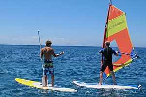 Windsurfing in Fuerteventura in the watersports paradise in the southeast