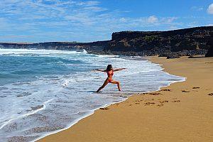 Yoga-Unterricht auf Fuerteventura
