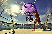 Cala Millor watersports package for 2 people: jet ski, banana boat, parasailing