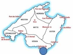 Map Insel Cabrera auf Mallorca