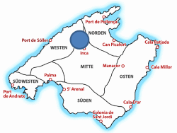 Map Kloster Lluc auf Mallorca