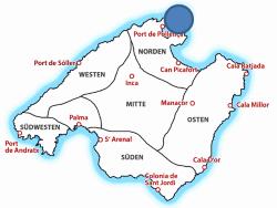 Map Cap Formentor auf Mallorca