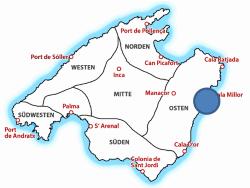 Map Drachenhöhle auf Mallorca