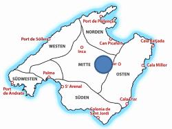 Map Es Calderers Mallorca