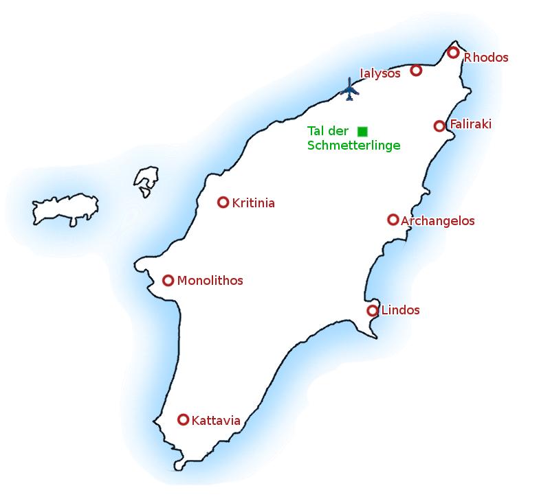 Rhodos Karte