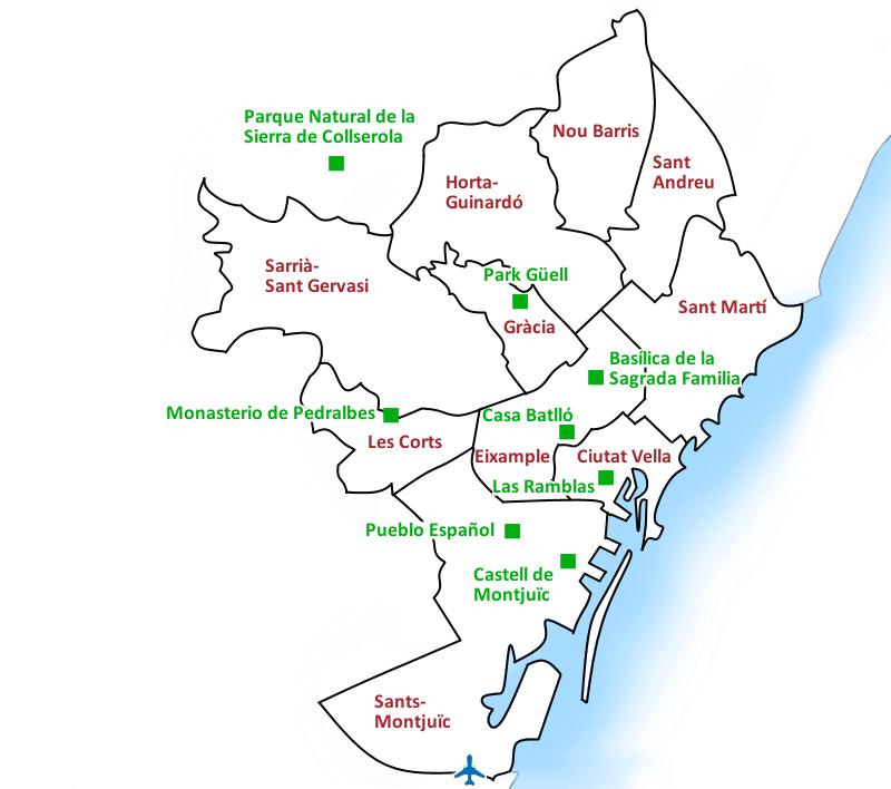 Barcelona mapa