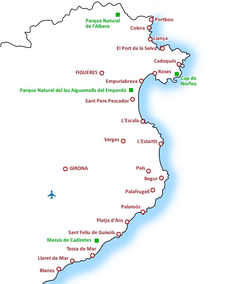 Costa Brava Carta